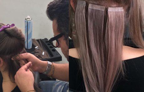 הדבקת שיער